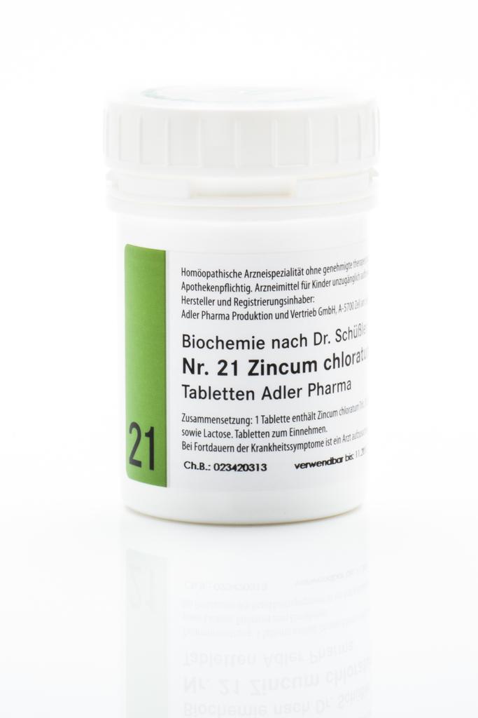 Schüßler Salz Nr 21 Zincum Chloratum D12 Von Adler Pharma