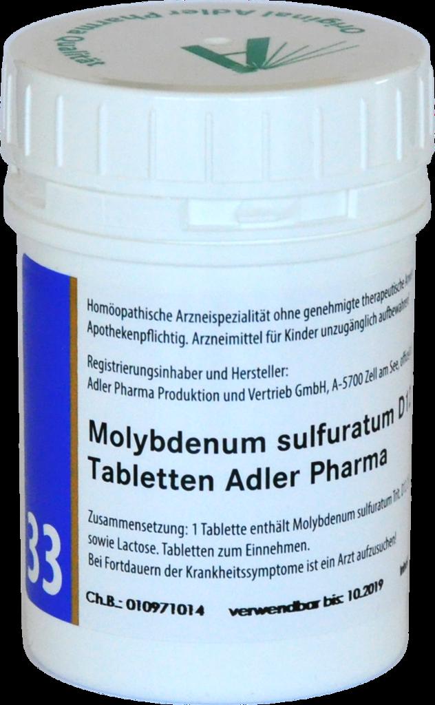 Schüßler Salz Nr 33 Molybdenum Sulfuratum D12 Von Adler Pharma
